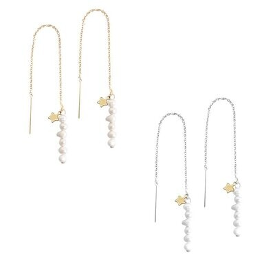 Macy Thread Through Earring - GOLD