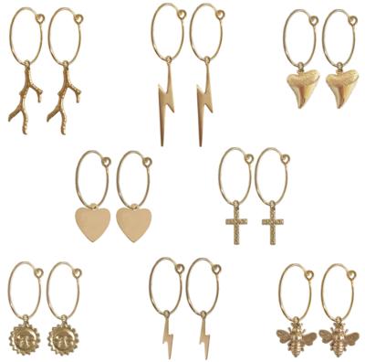Jessi Mini Earring with Cross- GOLD