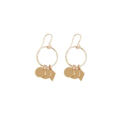 Mini Earring with Charms- GOLD