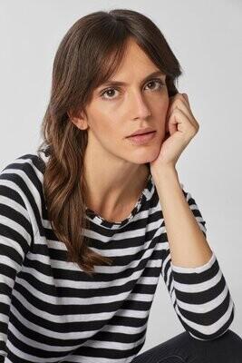 Jersey Longsleeve Stripe - black