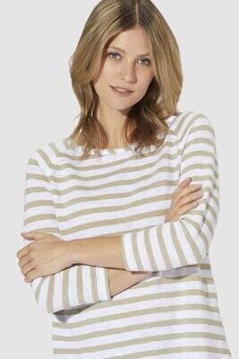 Jersey Longsleeve Stripe - beige