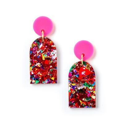 Arc Earrings - Scarlett