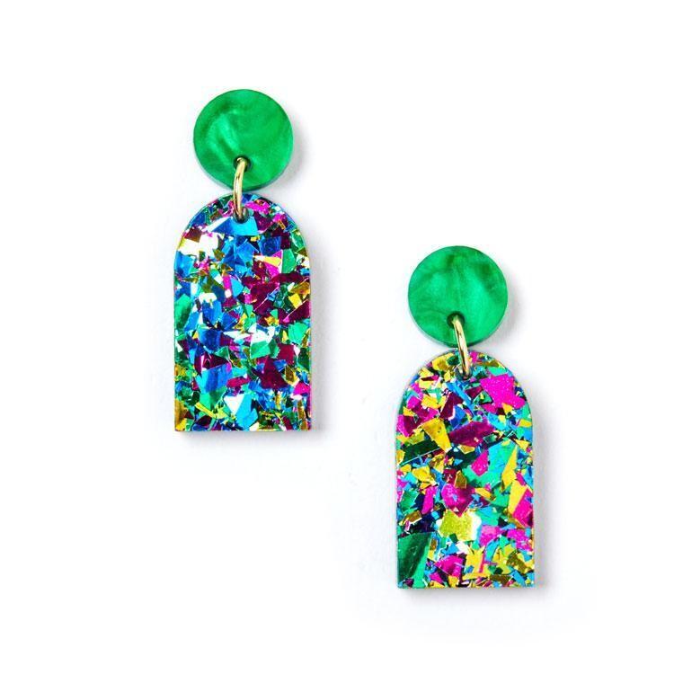 Arc Earrings -Harlequin