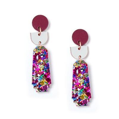Dynasty Earrings - Fuschia