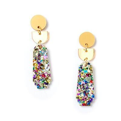 Dynasty Earrings - Gold/Confetti