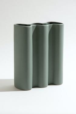 Wave Vase - Jade