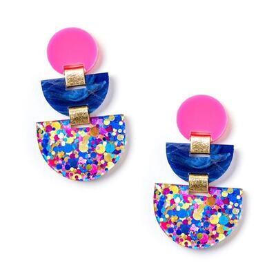 Boat Earrings - Pink/CMYK