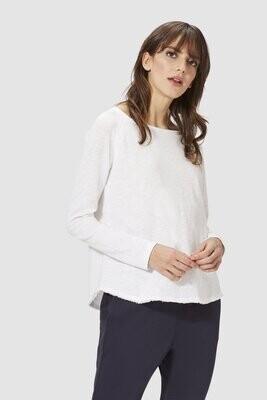 Jersey Longsleeve Stripe - White