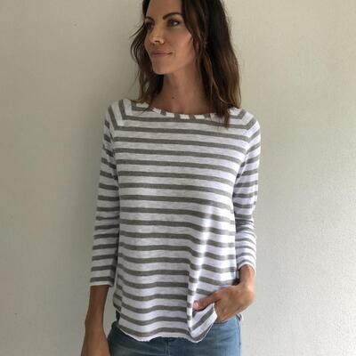 Jersey Longsleeve Stripe - Grey