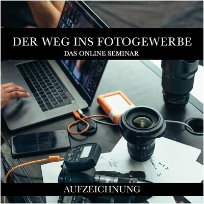Zoominaraufzeichnung - Der Weg ins Fotogewerbe