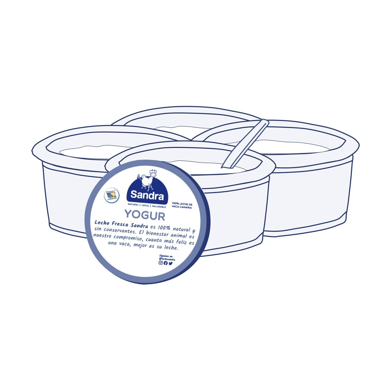 Pack Yogur Natural 125 gr. (4 unidades)