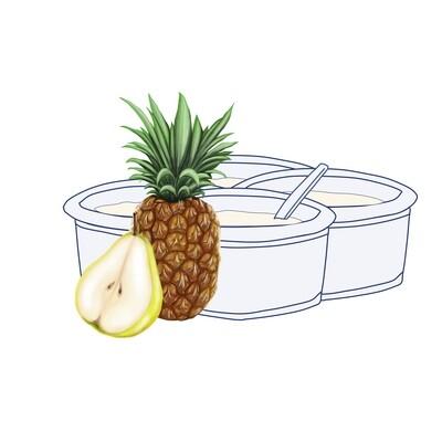 Pack Yogur Pera-Piña 125 gr. (4 unidades)