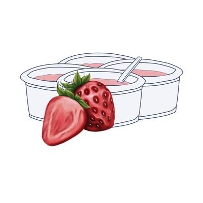 Pack Yogur Fresa 125 gr. (4 unidades)
