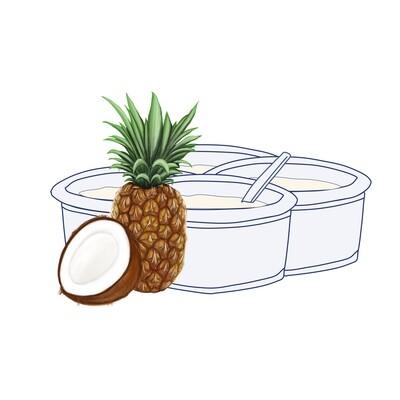 Pack Yogur Coco-Piña 125 gr. (4 unidades)
