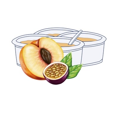 Pack Yogur Melocotón-Maracuyá 125 gr. (4 unidades)
