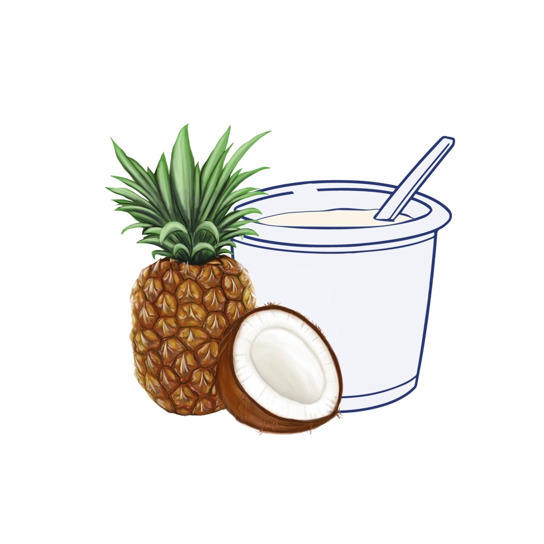 Yogur Coco-Piña 500 gr.