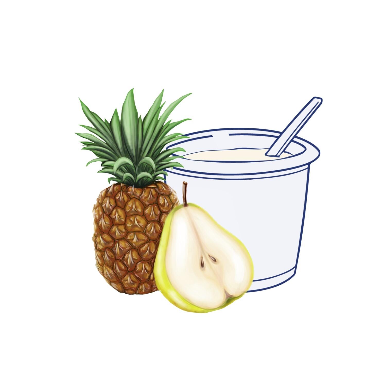 Yogur Pera-Piña 500 gr.