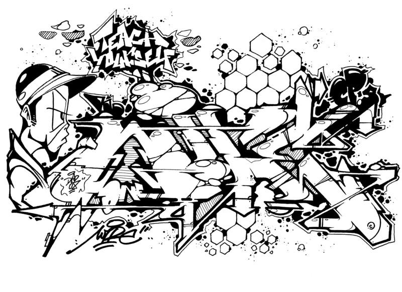 Sketch Black & White A4