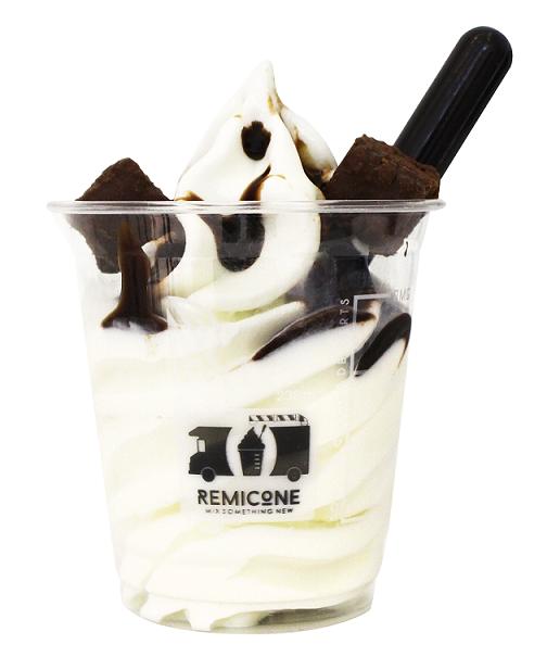 Double Choco Praline Soft Serve Ice Cream