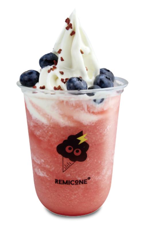 Double Berry Ice Cream Smoothie