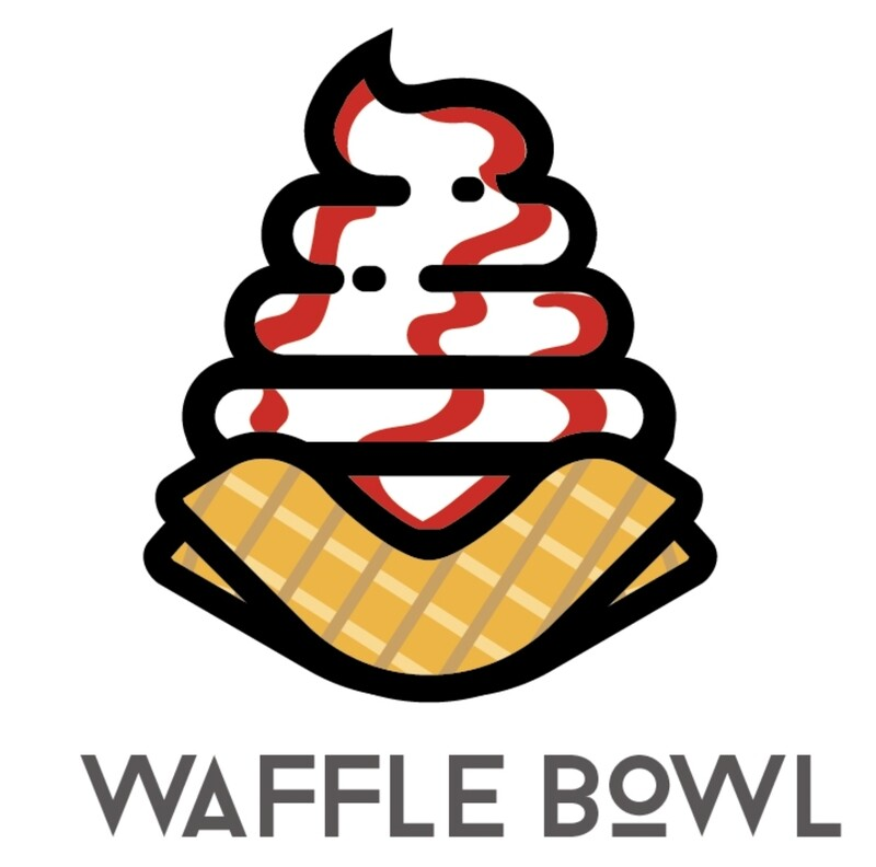 DIY Waffle Bowl Soft Serve Ice Cream