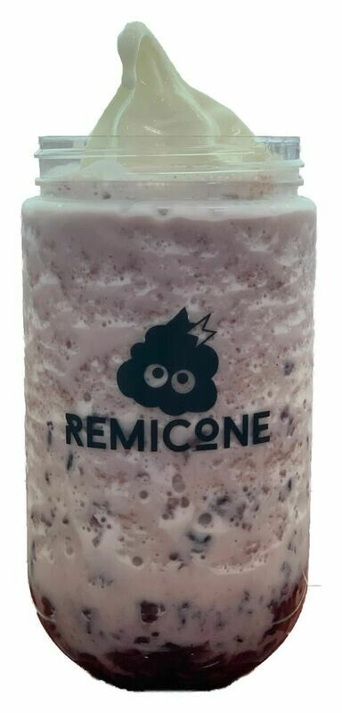Black Rice Milk Drink with Ice Cream