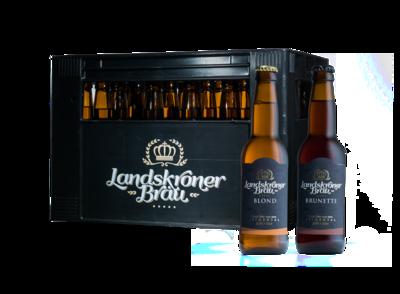 Gemischte Harasse mit zwei Biersorten