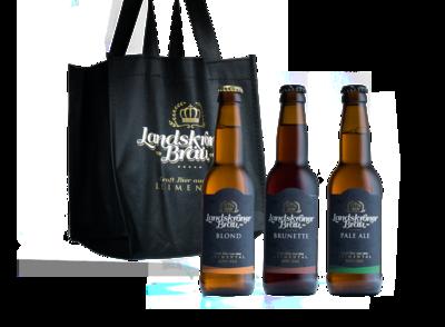 Gemischtes Sixpack mit drei Biersorten