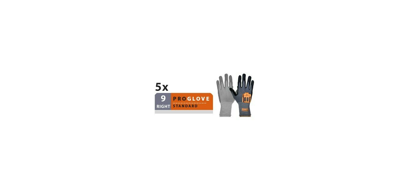 ProGlove - Standard 5 Pairs Pack - Right Hand Size 9