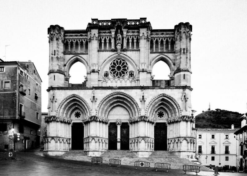 Cuenca Cathedral on traditional canvas