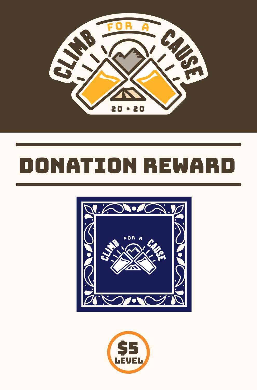 Climb For a Cause Donation Bandanna - $5