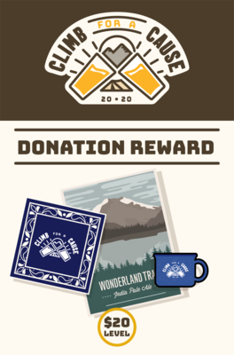 Climb For a Cause Donation combo- $20