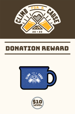 Climb For a Cause Donation Mug - $10