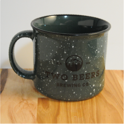 Two Beers Brewing Co. Ceramic Mug - Green