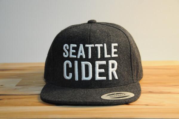 Seattle Cider Co. Flat Brimmed Grey Hat