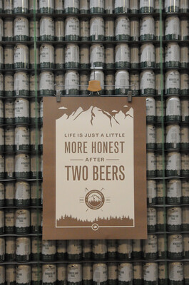 Two Beers Brewing Co. Brown Poster