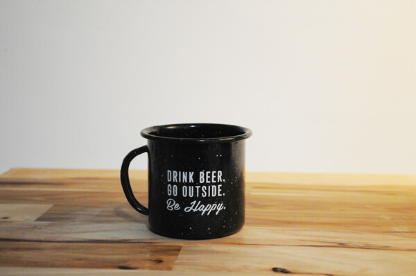 Two Beers Tin Camp Cup