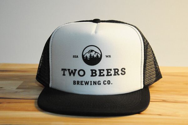 Two Beers Brewing Co. Flat Brimmed Hat