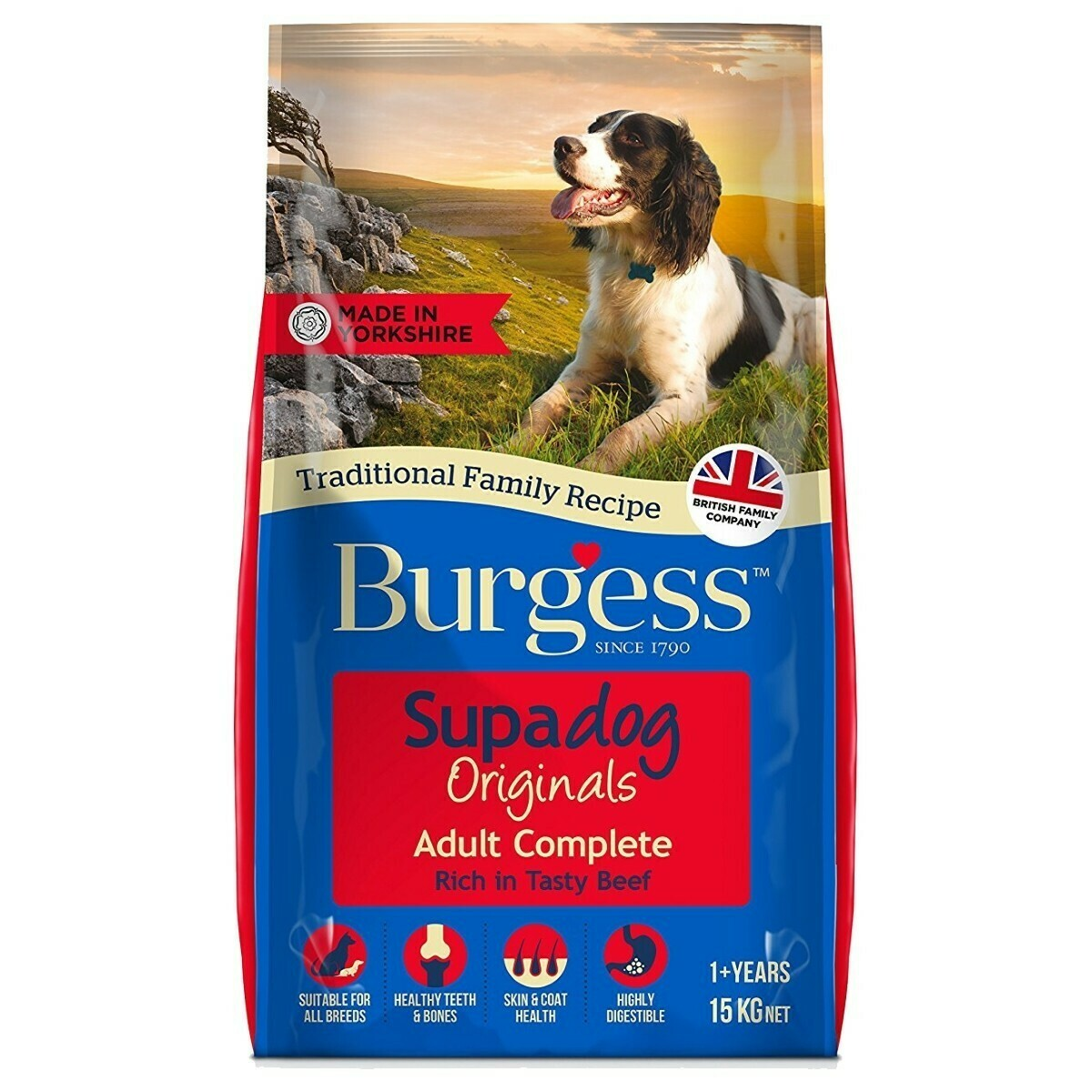 Burgess Supadog Adult Dog Food Beef
