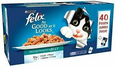 Felix As Good As It Looks Adult Cat Food Fish Chunks