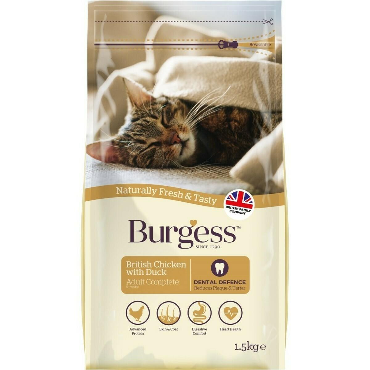 Burgess Adult Cat Food Chicken & Duck