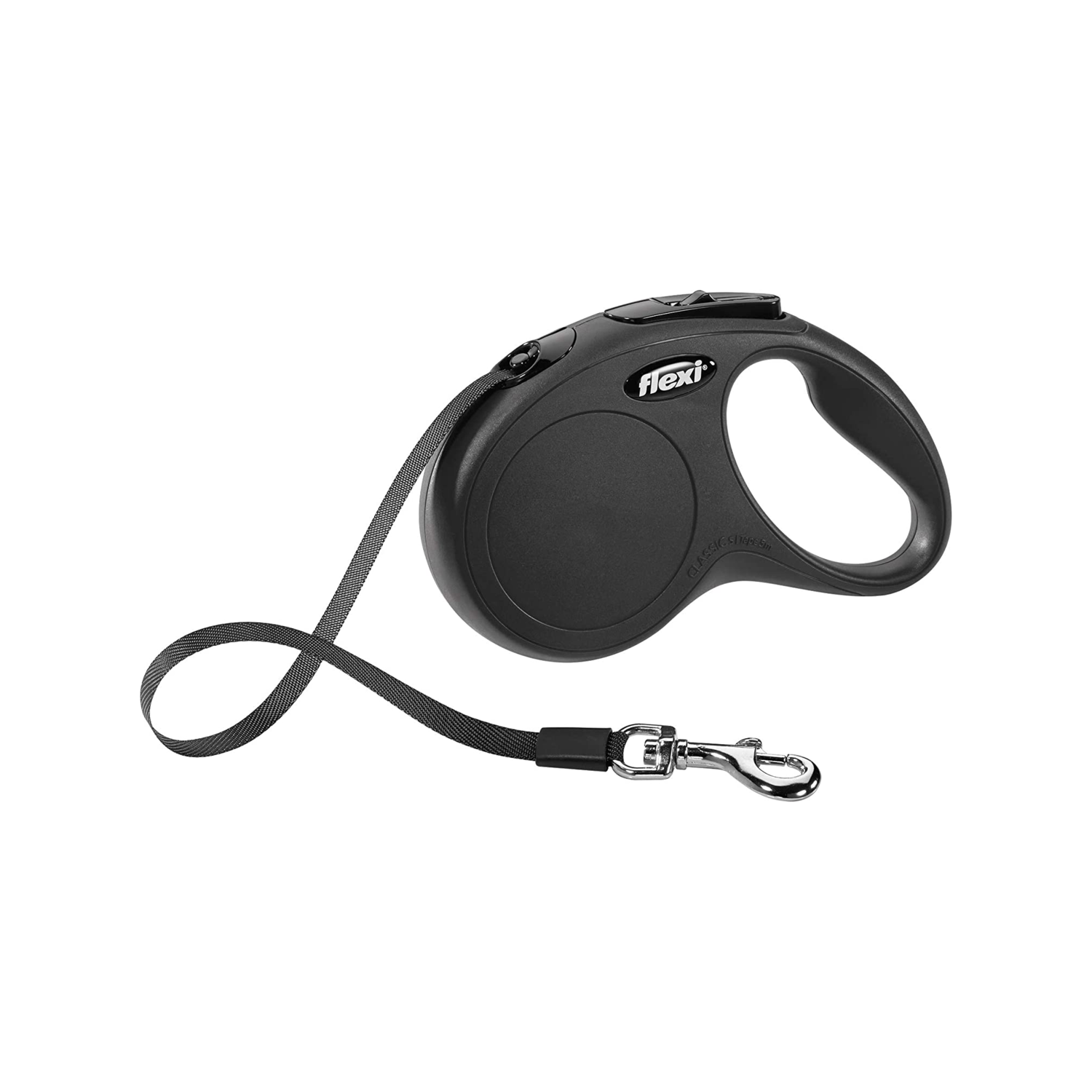 Flexi 5m Classic Retractable Lead Tape Black