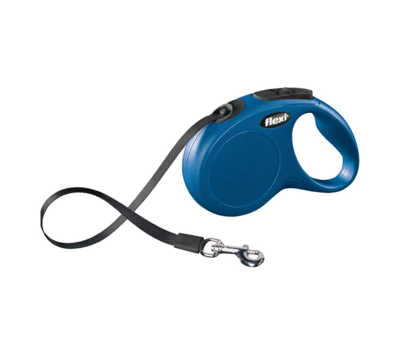 Flexi 5m Classic Retractable Lead Tape Blue
