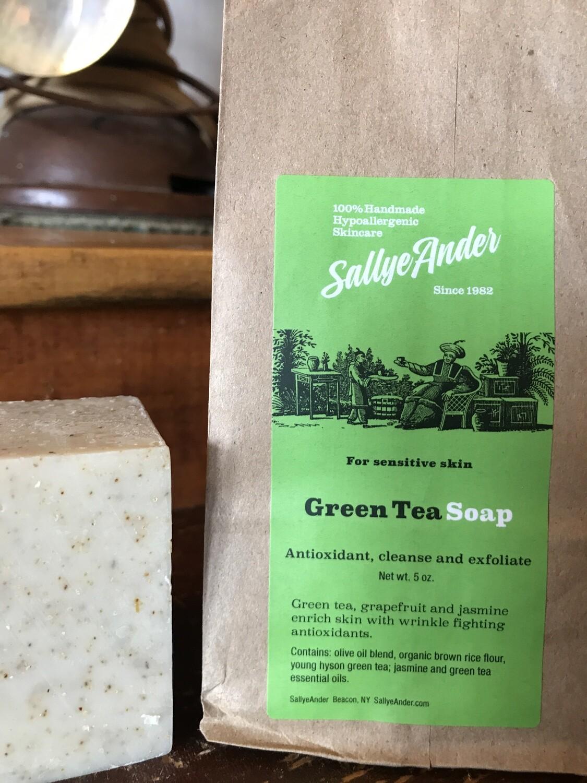 Green Tea Sq Soap 5oz