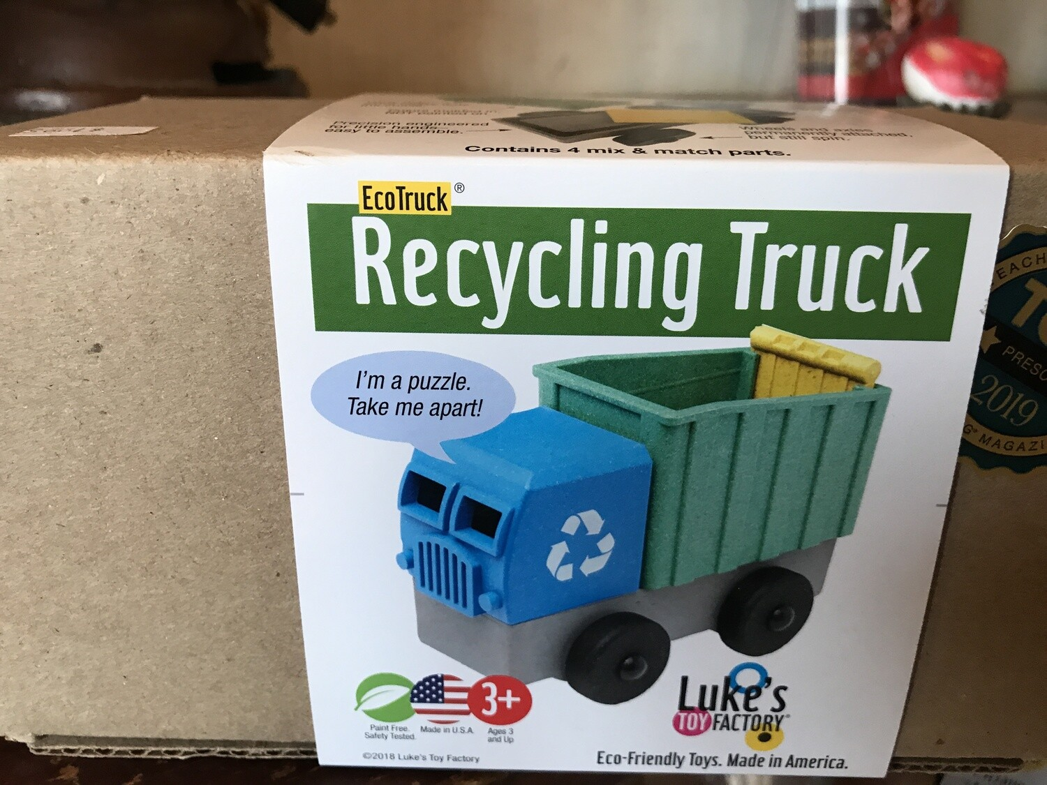 Luke's Ecotruck Recycling Truck