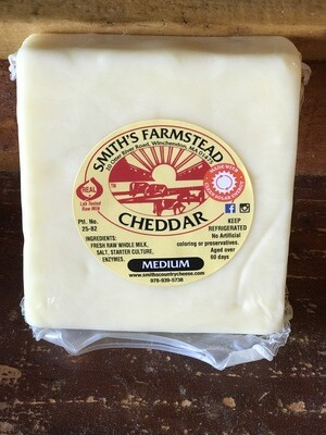 Cheddar Cheese (Medium) 8oz Block - Smith's