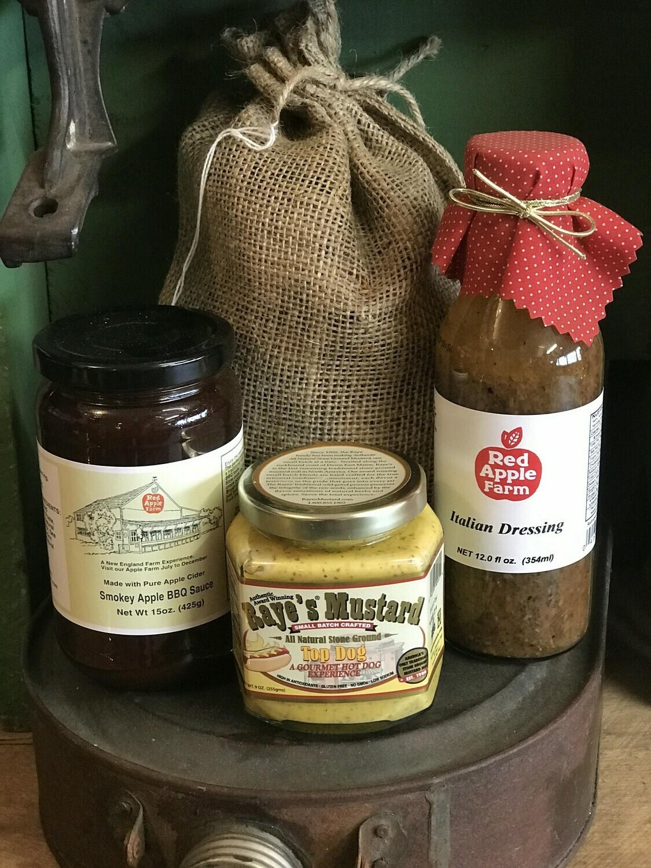 BBQ Bundle (BBQ Sauce, Mustard, Italian Dressing, wood chips)