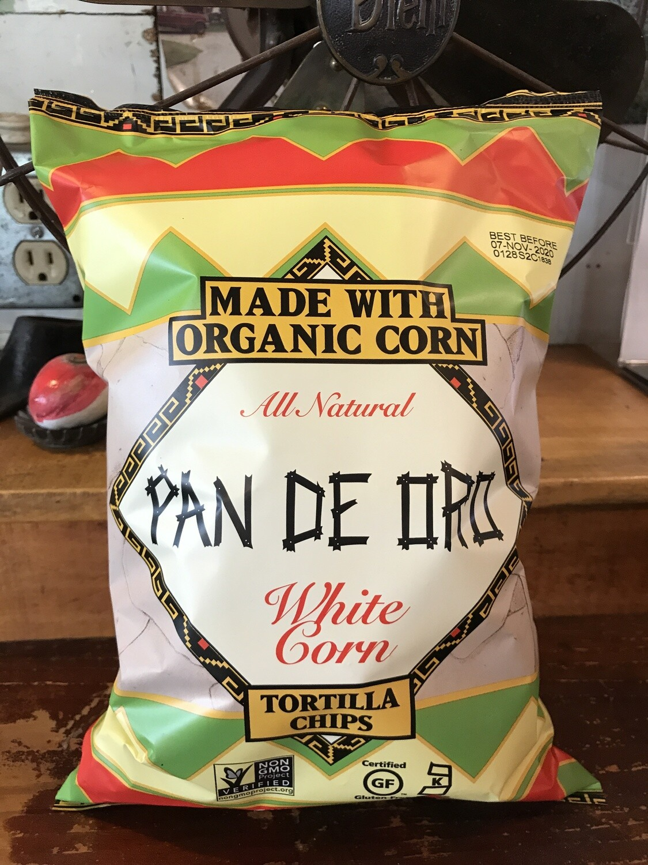 Pan De Oro White Corn Tortilla Chips 7.5oz