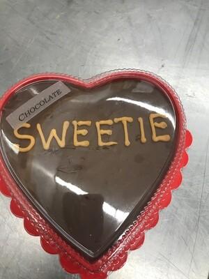 Custom FUDGE HEART - Medium (CHOCOLATE)