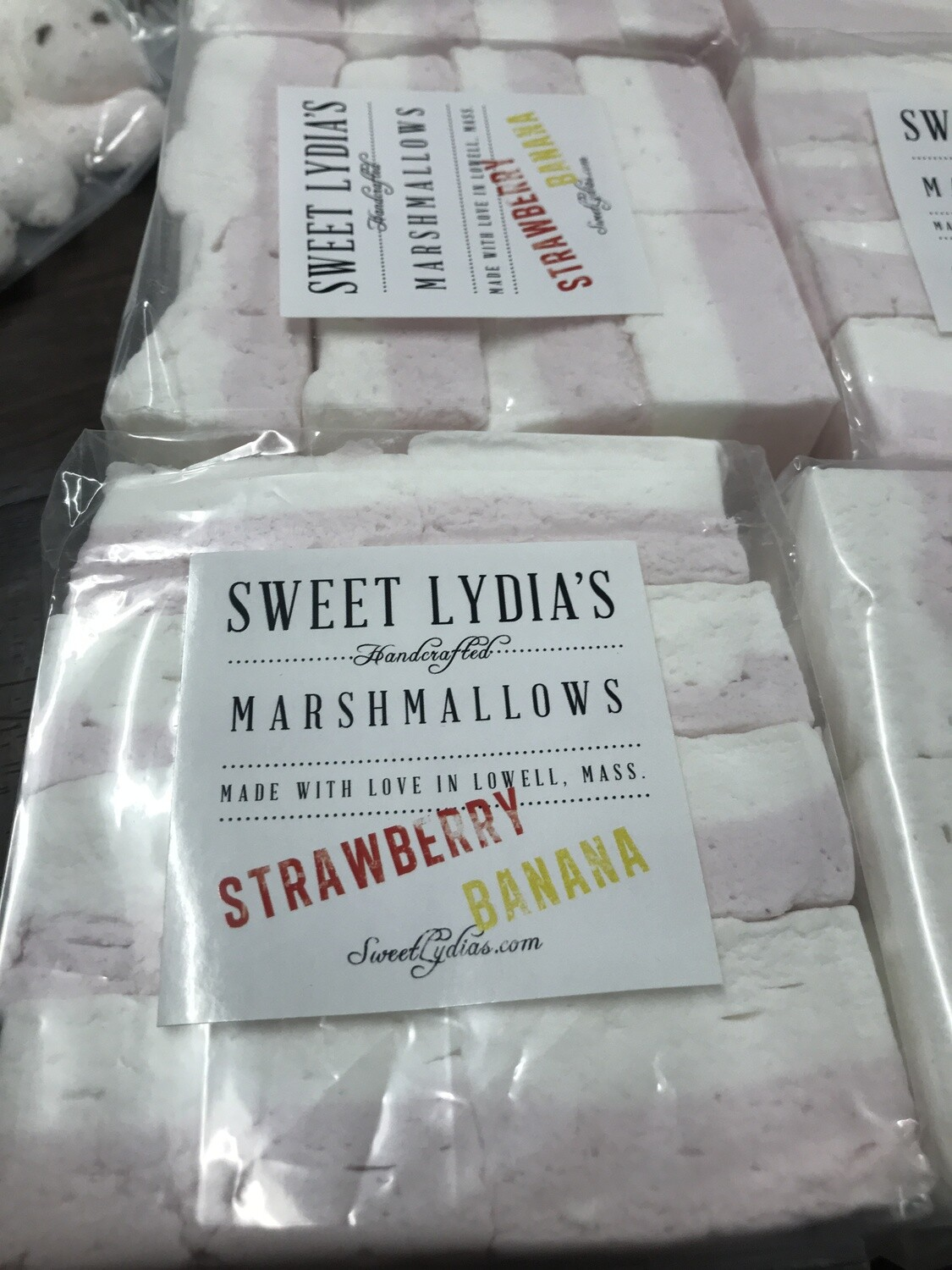 Strawberry Banana Marshmallows - Sweet Lydia